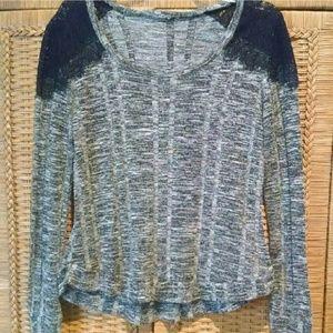 Pullover, semi cold shoulder lace detail, no tag L